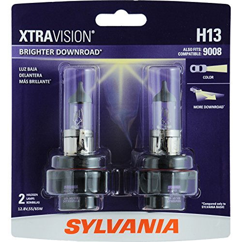 SYLVANIA H13 XtraVision Halogen Headlight Bulb, (Contains 2 Bulbs)