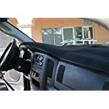 Dodge Ram Black Carpet Dashboard Cover- 2009 1500, 2010 1500/2500/3500, 2011 - 2018 All Models With One Glove Box. Custom Fit Dash Cover, Easy Installation