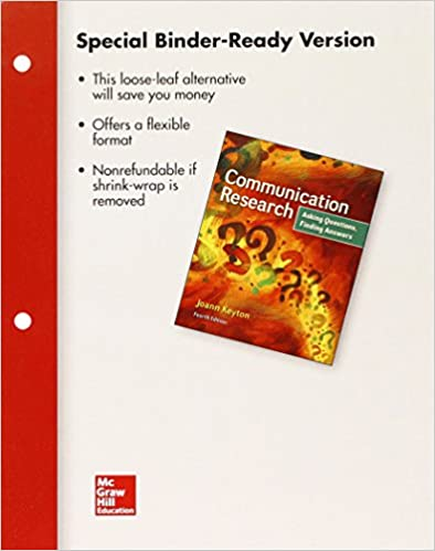 Looseleaf for Communication Research: Asking Questions