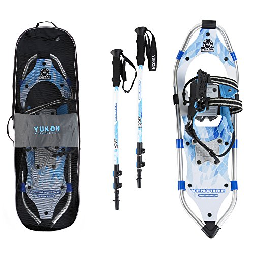 Yukon Charlie's Advanced 8 x 21 Inch Women's Snowshoe Kit with Poles and Bag by Yukon Charlie's