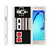 Cheap MINITURTLE Case Compatible w/ [Samsung Galaxy On5 Slim Case, Samsung On5 Case, O5 Case][Snap Shell] Hard Plastic Slim White Snap on case w/ Unique Designs Game Controller