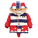 Happy Cherry Toddler Kids Cute Elephant Coat Hoodies Outerwear Jacket