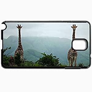 Personalized Protective Hardshell Back Hardcover For Samsung Note 3, Giraffe Design In Black Case Color