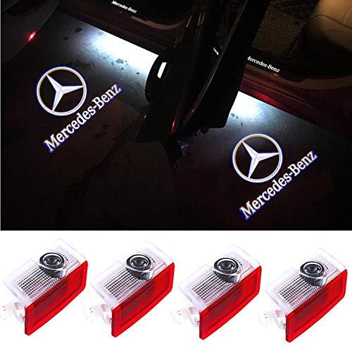 Car Door LED Logo Projector Welcome Lamp Door Light for Mercedes-Benz Accessories Light E A C ML Class w212 w166 w176 Series 4 Pack