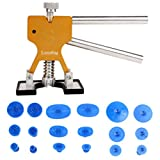 Auto Body Painless Dent Removal PDR Dent Lifter Puller Repair with 18 pcs Suction Tab Tools Kits Gold