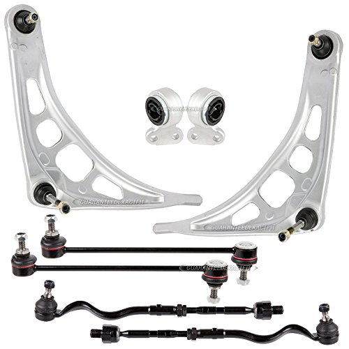 New Front Lower Control Arm Kit Tie Rods Bushings Sway Bar Links For BMW E46 Z4 - BuyAutoParts 93-80094K3 (E46 Tie Rod Assembly)