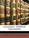 Gesenius' Hebrew Grammar, Wilhelm Gesenius and Benjamin Davies, 1148955542