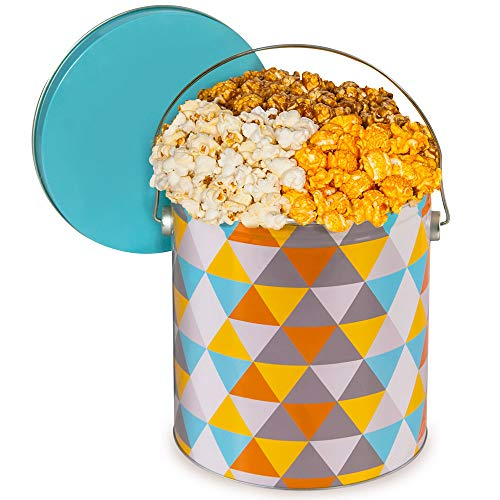 3 Way Popcorn Gift Tin - Artisan Popcorn Tin (Traditional, 1 Gallon)