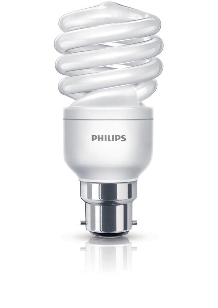 Philips Tornado 15W Energy Saver B22 Bayonet Cap Economy Compact Fluorescent Light Bulbs 2 Pack Amazoncouk Lighting