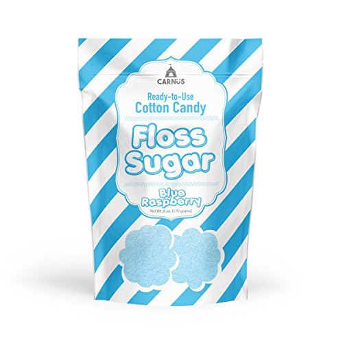 Carnüs Cotton Candy Floss Sugar, Blue Raspberry, 6 ()