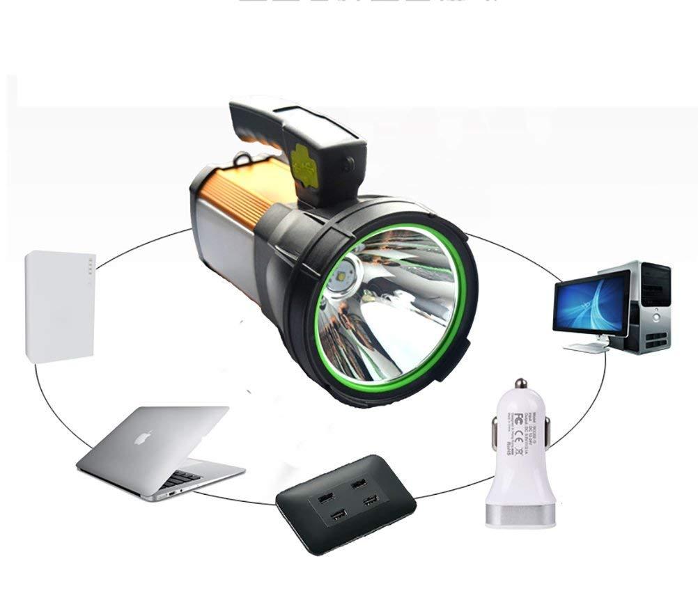 LED Handscheinwerfer, USB Wiederaufladbare Wasserdicht Suchscheinwerfermit - Dimmbar Arbeitsleuchte Taschenlampen Ideal Für Camping Outdoor - Handy-Stromversorgung 3 Lichtmodi 2 Helligkeitsstufen