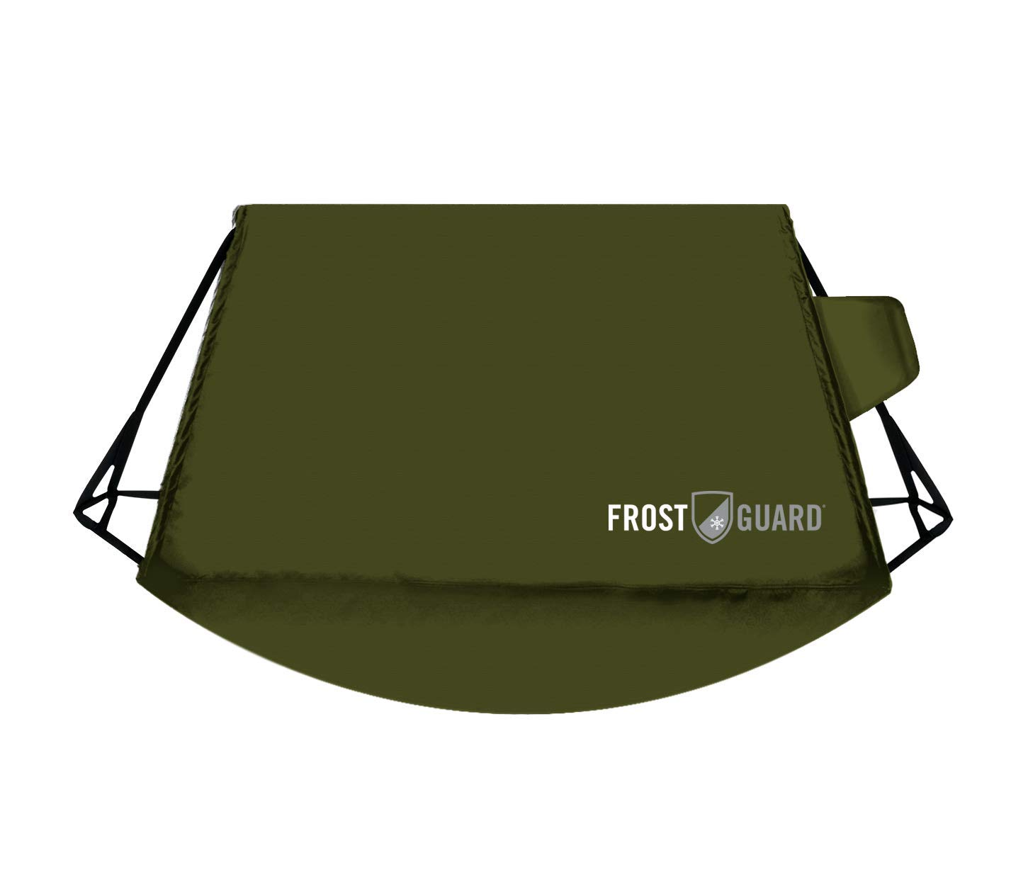 FrostGuard Signature XL   Premium Winter Windshield Cover with Security Panel and Wiper Cover, Protects Viewing Area from Snow, Ice and Frost, Fits Most Cars and SUVs (Black XL 68' x 41') Fits Most Cars and SUVs (Black XL 68 x 41)
