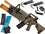 Evike - Matrix Sportsline Airsoft M4 M203 / Dark Earth - Go Airsoft Starter Package (Gasp) - AEG Rifle w/ G3 Micro-Switch Gearbox