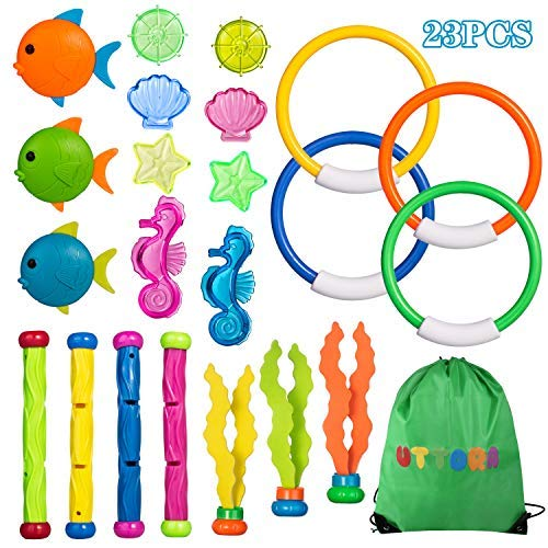 UTTORA Diving Toys Underwater Swimming Pool Toys Diving Game Training Gift for Kids Boys Girls (Kids Healthy Sink)