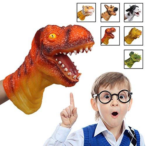 [Tyrannosaurus Rex]Dinosaur Hand Puppet, Bagvhandbagro Soft Rubber Hand Puppet Perfect Gift for Kids