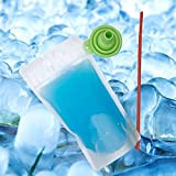 C CRYSTAL LEMON 100PCS Drink Pouches with Straw