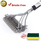 E·XINTAI Barbecue Grill Brush Stainless Steel BBQ Brush by, Bristle Free and 3 Helix Brush in 1