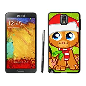 Personalization Christmas Cat Black Samsung Galaxy Note 3 Case 37
