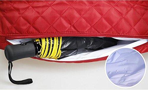 Moda oblicua a través del hombro Bolso de la momia, bolso de múltiples funciones de la madre de gran capacidad, bolso del bebé de la madre, bolso de la momia ( Color : Rojo ) Naranja