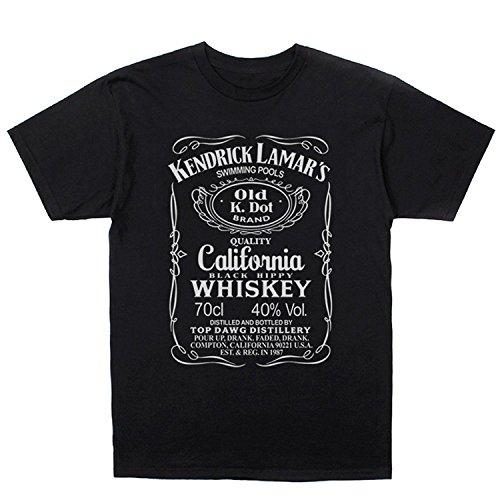 Kendrick Lamar Swimming Pools Whiskey T-shirt, Black (L)