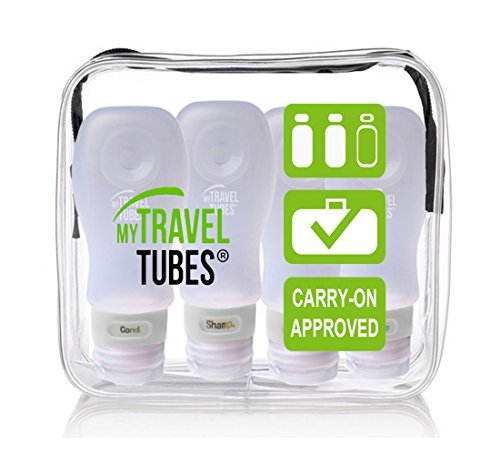 5 pieces Travel bottle container pouch - 1