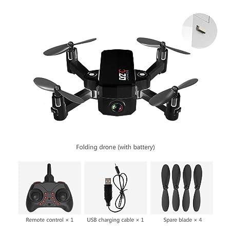 Sroomcla - Mini dron con Disparador automático, Plegable, cámara ...