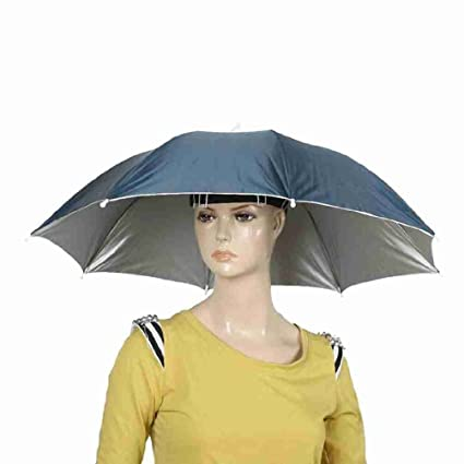 Portable Fishing Sun Protection Navy Blue Umbrella Hat for Fishing   Amazon.co.uk  Kitchen   Home 9fbbdb97208