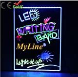 MyLine 24''x18'' Large LED Writing Board with Remote Control (A Complete Set-6 Fluorescent Marker Pens Included)