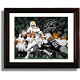 Framed Peyton Manning Autograph Replica Print - Tennessee Volunters