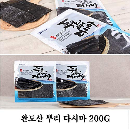 Dried Sea Tangle Kelp 200g 뿌리다시마 by Woorim