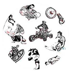 alfombrilla de ratón Ilustración deporte extremo - ronda - 20cm