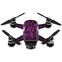 Skin For DJI Spark Mini Drone – Purple Style | MightySkins Protective, Durable, and Unique Vinyl Decal wrap cover | Easy To Apply, Remove, and Change Styles | Made in the USA