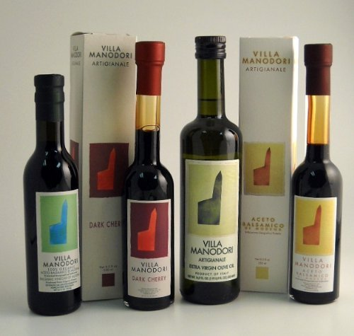 Villa Manodori Olive Oil & Balsamic Vinegar Gift Set (4 bottles)
