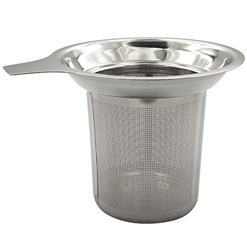 Daycount® Stainless Steel Reusable Coffee Filter Tea Baskets Mesh Strainer Coffee Dripper With Holder ()