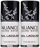 Nuance Salma Hayek Nail Lacquer WHITE JASMINE #490 (15 ML/0.5 FL. OZ.) EACH BOTTLE (PACK OF 2) PLUS A (Free Nail File From fetish for Natural Nails And Nail Tips)