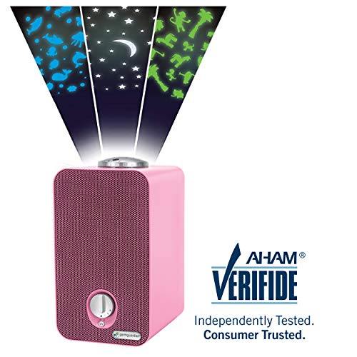 GermGuardian AC4150PCA 4-in-1 Kids Room Air Purifier, HEPA Filter, UVC Sanitizer, Air Cleaner Traps Allergens, Pollen, Odors, Mold, Dust, Germs, Smoke, Pet Dander, Night Light Projector, Germ Guardian