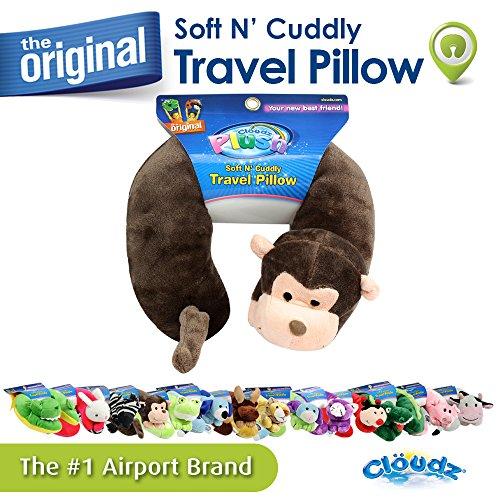 Cloudz Kids Plush Animal Travel Neck Pillow - Monkey