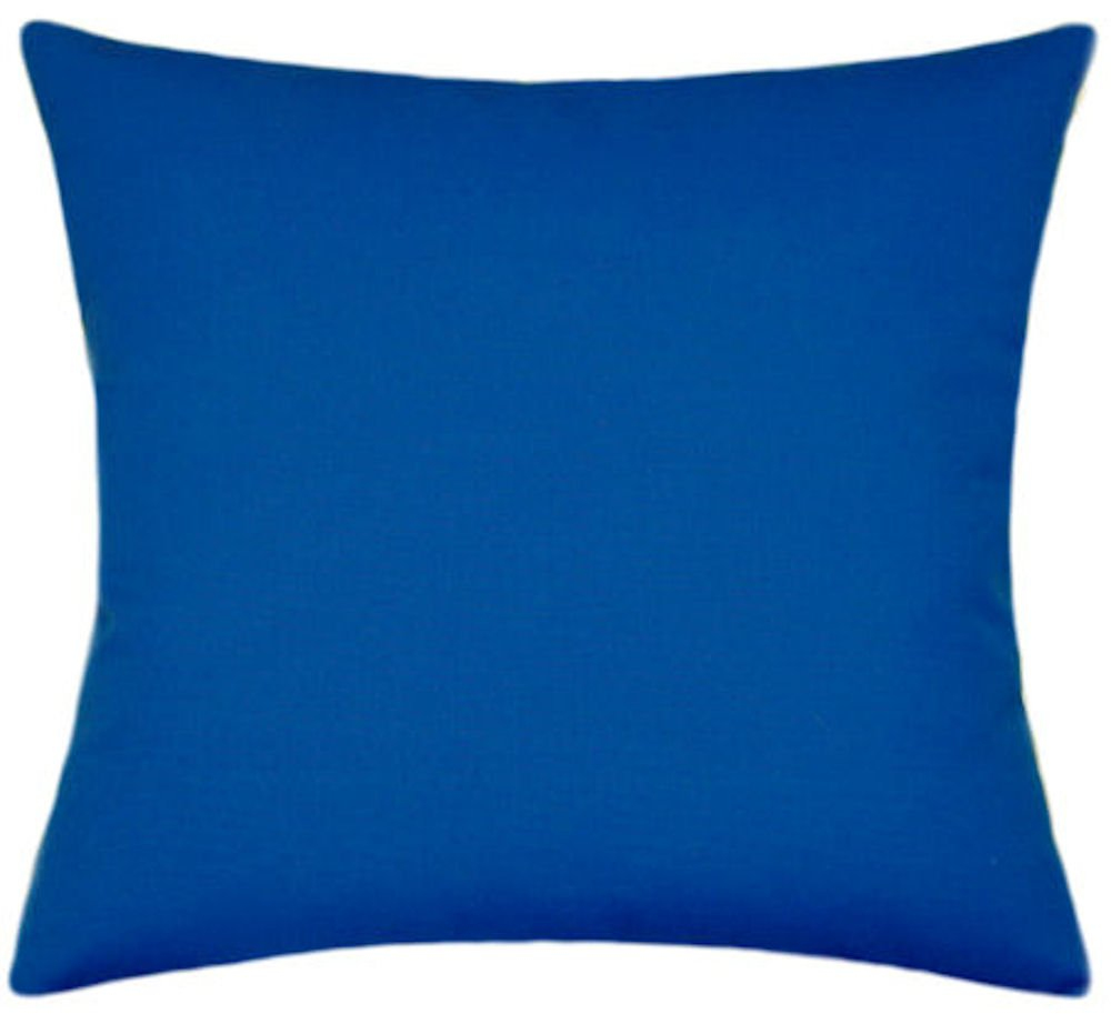Sunbrella Pacific Blue Indoor/Outdoor Solid Patio Pillow 18x18