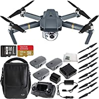 DJI Mavic Pro Quadcopter Drone Fly More Combo with Manufacturer Accessories + Sandisk 32GB microSDHC Memory Card + Microfiber Cleaning Cloth