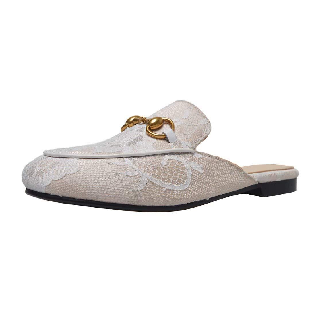 JYshoes 18236 Mules Mules Femme B01H0ED2GM Beige+spitze 202c51e - jessicalock.space