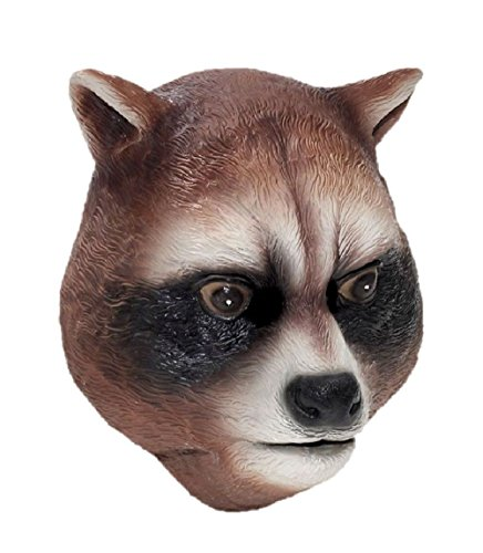 Raccoon Latex Mask Animal Halloween Adult Costume Rocket Accessory Parties - Adult Rocket Raccoon Gloves