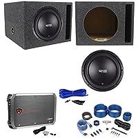 RE Audio SEX12D2 V2 SEXV2 12 750W Subwoofer+Vented Box+Mono Amplifier+Amp Kit