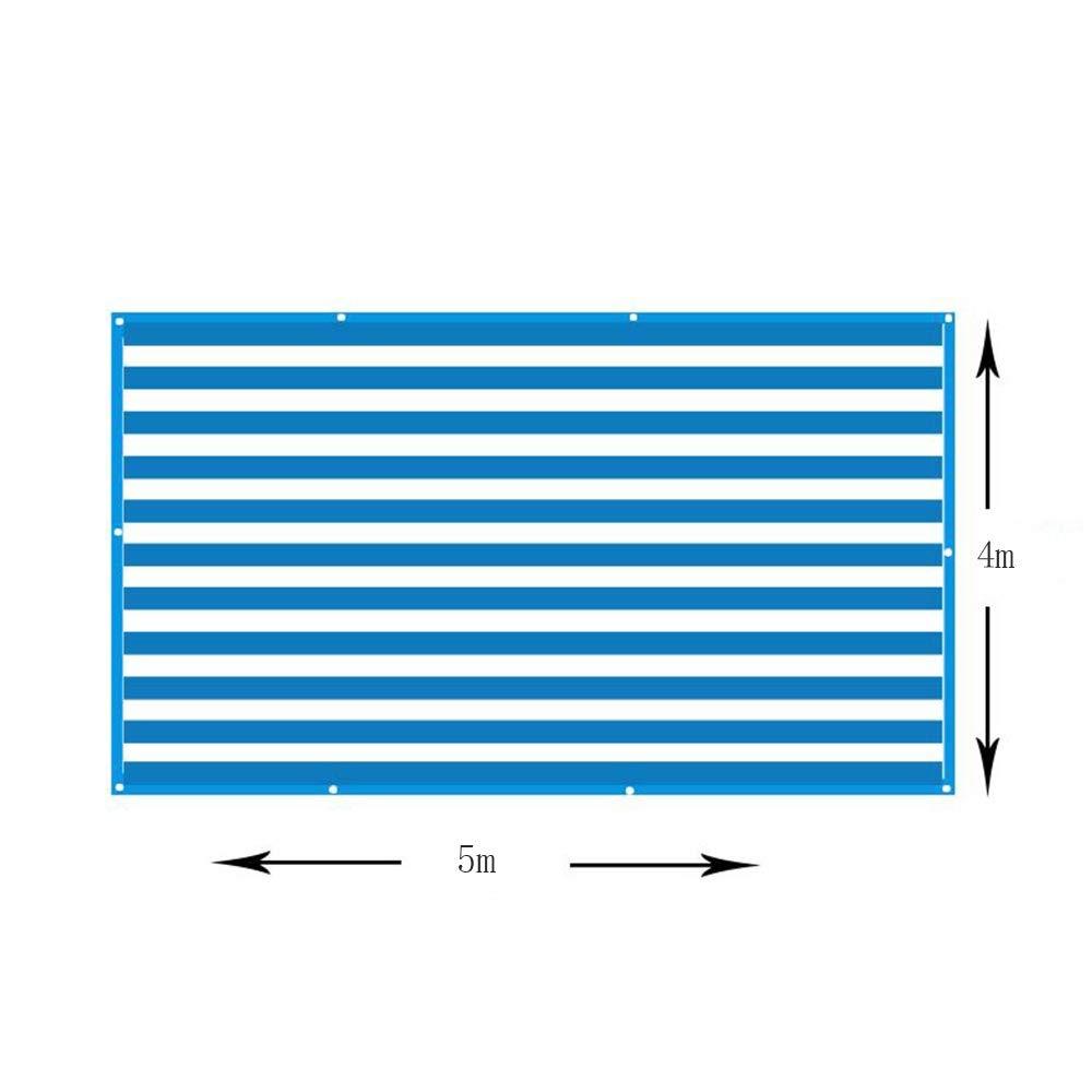 LHA オーニングシェード 6ピン青と白のシェードネット/日焼け止めネット/縁取り穴の絶縁メッシュUVプロテクションガーデンフラワーシェードセイル (Size : 4x5m) B07T7W4QDV  4x5m