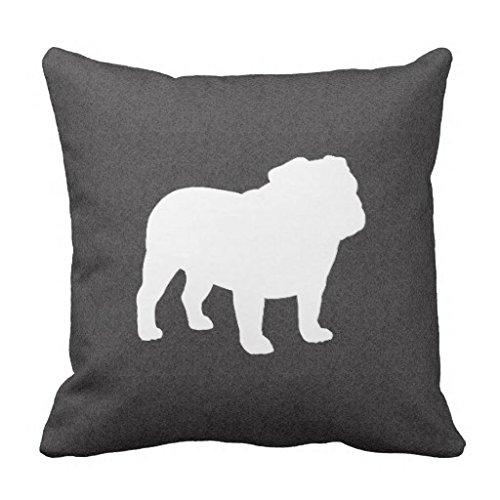 Generic English Bulldog Silhouette Throw Pillow 18*18