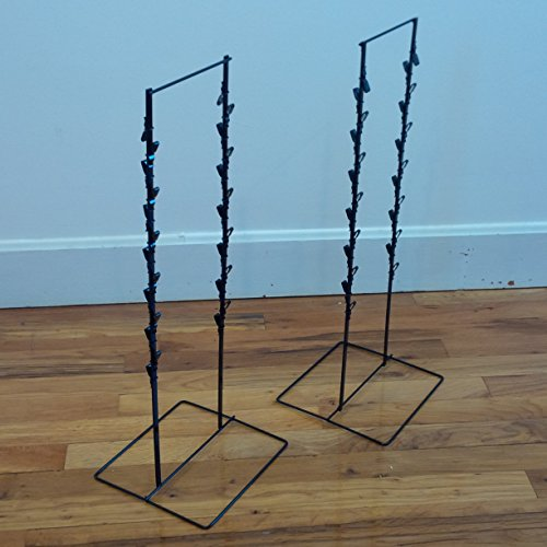 2 - Black Double Round Strip Potato Chip, Candy Clip Counter Display Rack