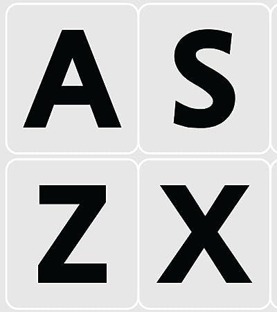 Pegatinas para teclado con diseño de letras grandes de EE. UU.