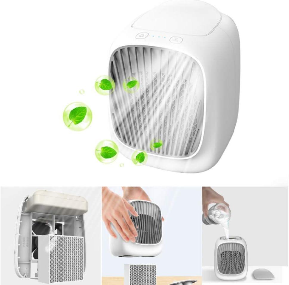 YXCF Ventilador con Enfriador De Aire Mini Aire Acondicionado Portátil Enfriador Purificador con USB 3 Velocidades Ajustables para Oficina En El Hogar Al Aire Libre ...