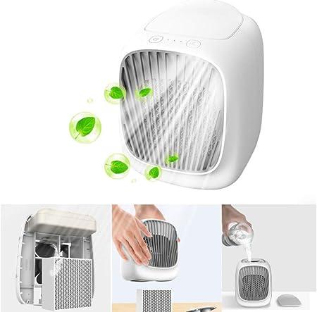 YXCF Ventilador con Enfriador De Aire Mini Aire Acondicionado Portátil Enfriador Purificador con USB 3 Velocidades Ajustables para Oficina En El Hogar Al Aire Libre: Amazon.es: Hogar