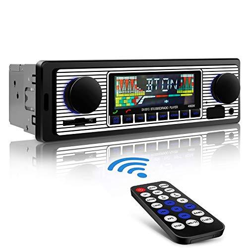 Aigoss Car Stereo with Bluetooth, Car Radio with USB/SD/AUX Port, 4 x 60W Car Audio FM Radio, Digital MP3 Player…
