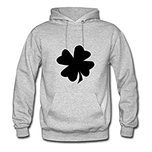 Women Shamrock (dotbot Vector) Sweatshirts -x-large Creative Image Grey